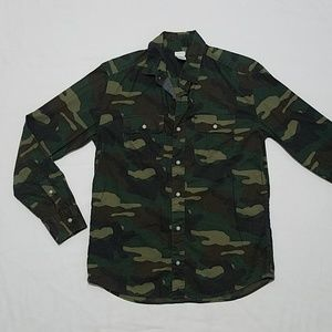 Crewcuts Boys Camouflage Buttoned Up Dress Shirt